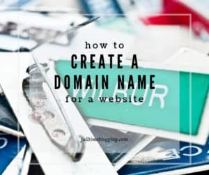 How To Create A Domain Name For A Website