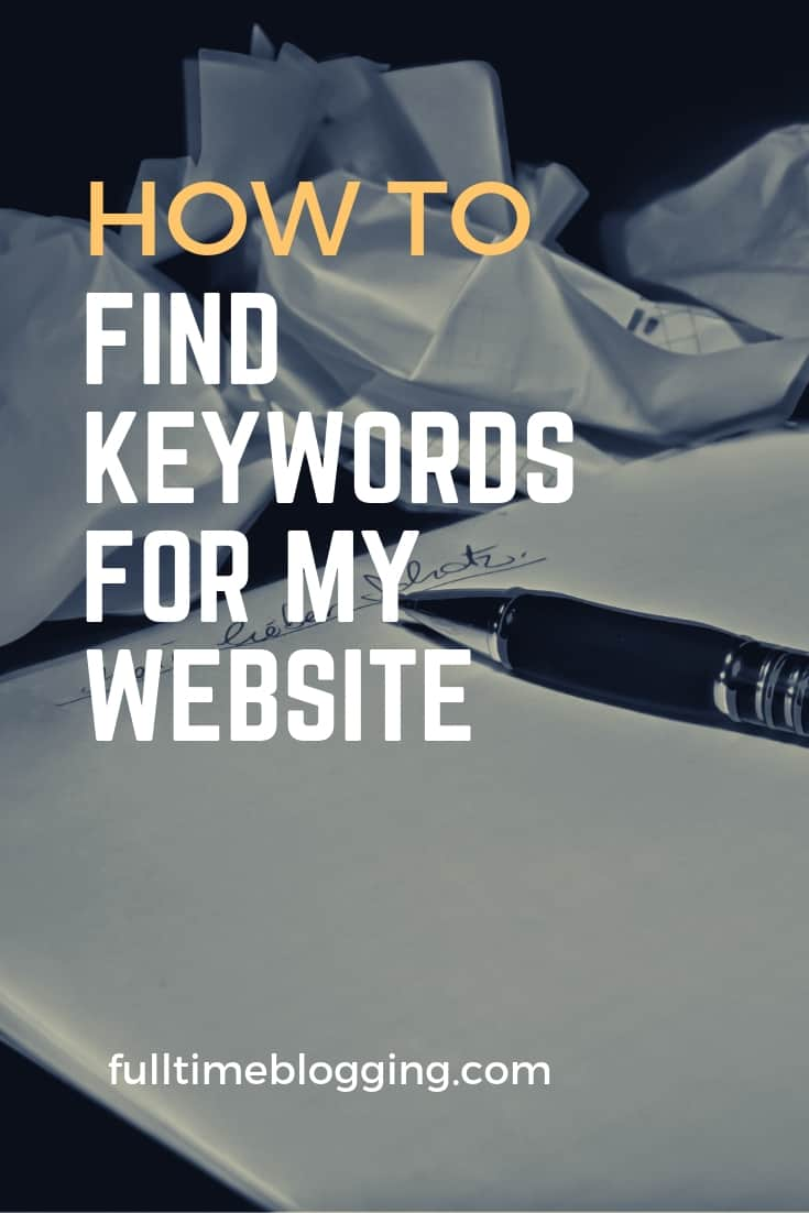 How To Find Keywords For My Website