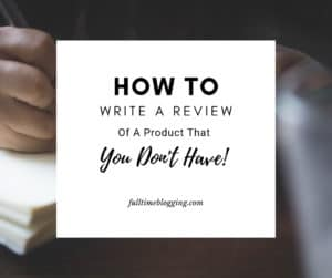 How To Write A Review On A Product