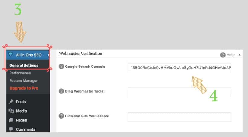 how to verify my website with google