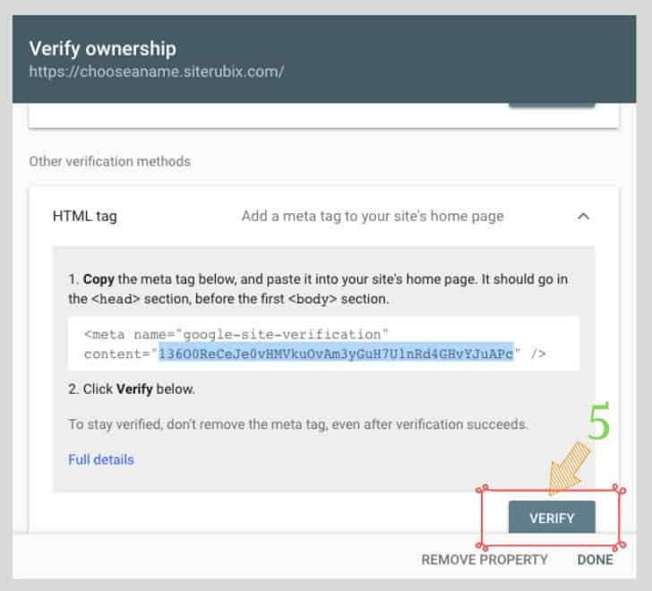 how to verify your website with google