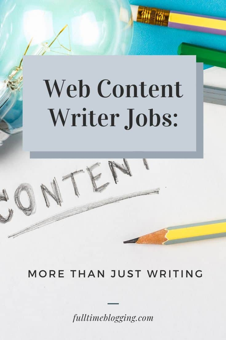 Web Content Writer Jobs