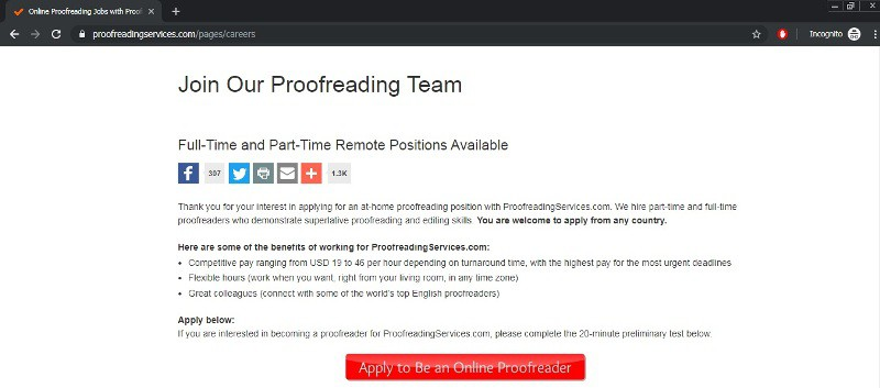 online proofreading jobs home