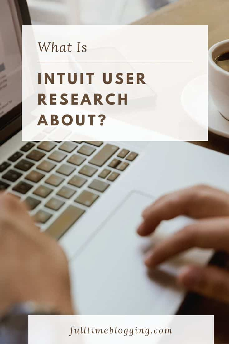 intuit user research about