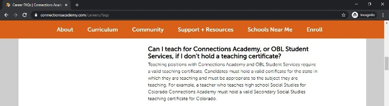 what connections academy is about