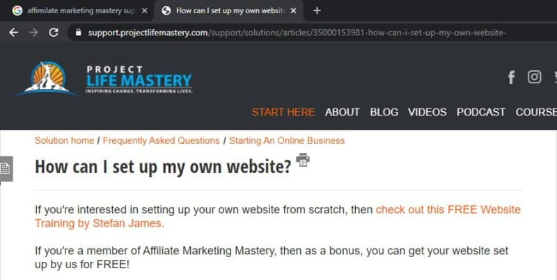 affiliate marketing mastery to