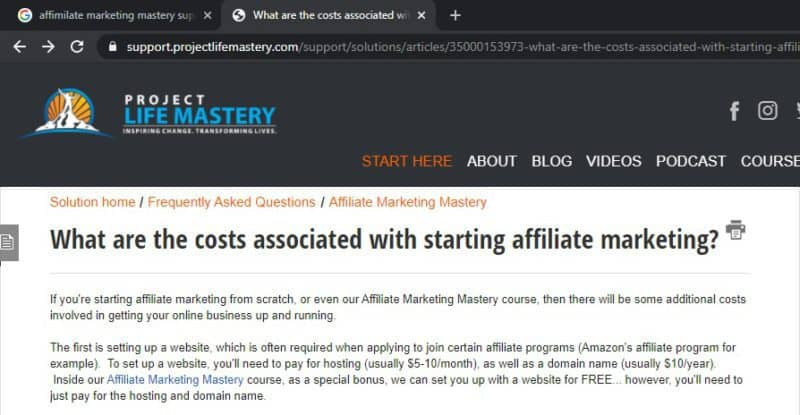and affiliate marketing mastery