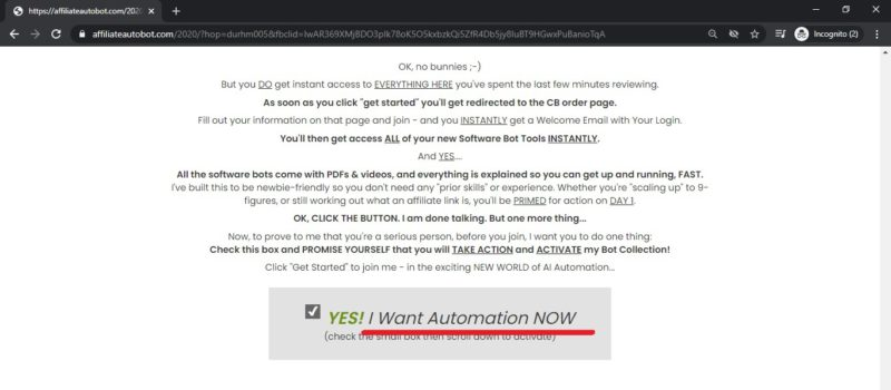 the affiliate bots to