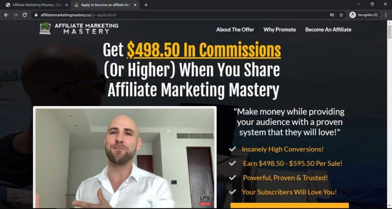 the affiliate marketing mastery