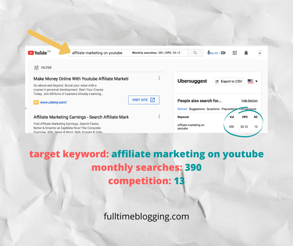 affiliate marketing on youtube
