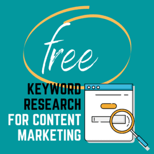free keyword research for content marketing