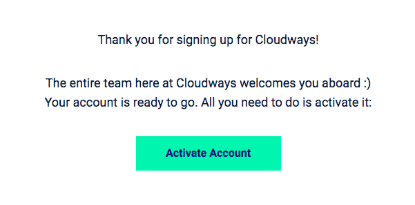 how to activate cloudways trial account