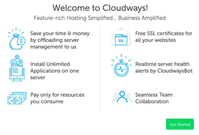 get started with cloudways