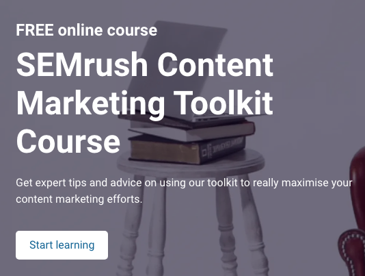 SEMrush Content Marketing Toolkit