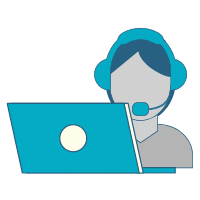 person with headset icon