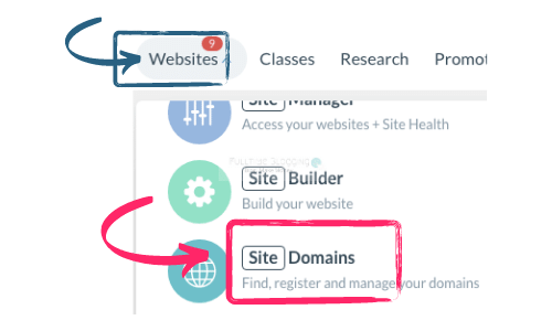 register and manage your domains