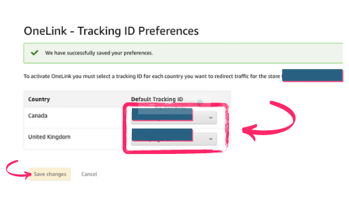 save tracking IDs for One Link
