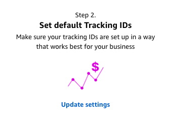 setup default tracking IDs for Amazon One Link