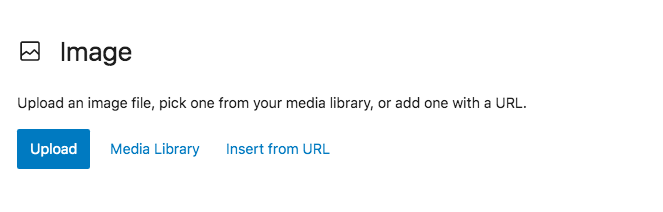 upload an image to media library