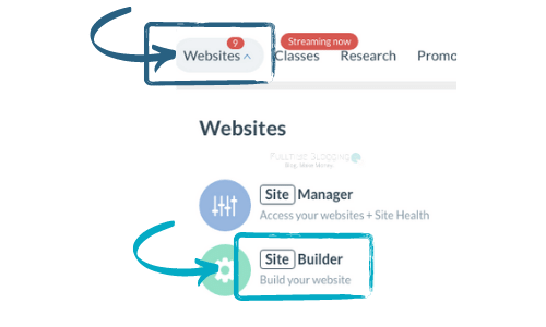 wealthy affiliate website site builder