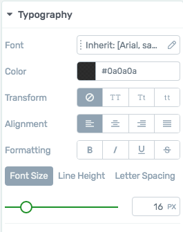 change font style and size