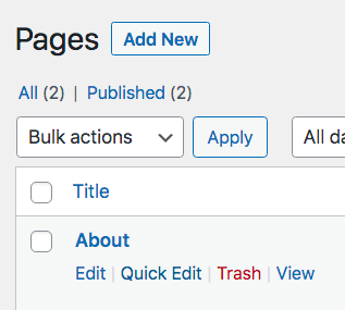 edit a page to become a post