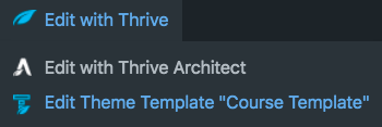 edit a template in Thrive