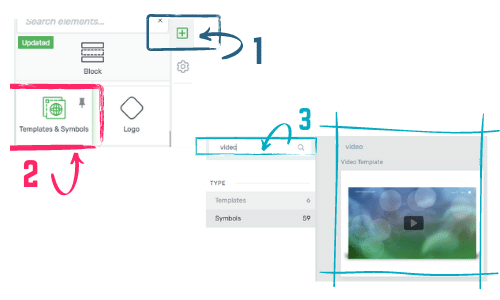 how to access the reusable symbols in Thrive