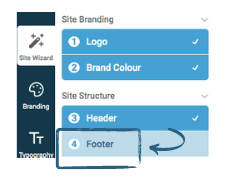 how to change website footer