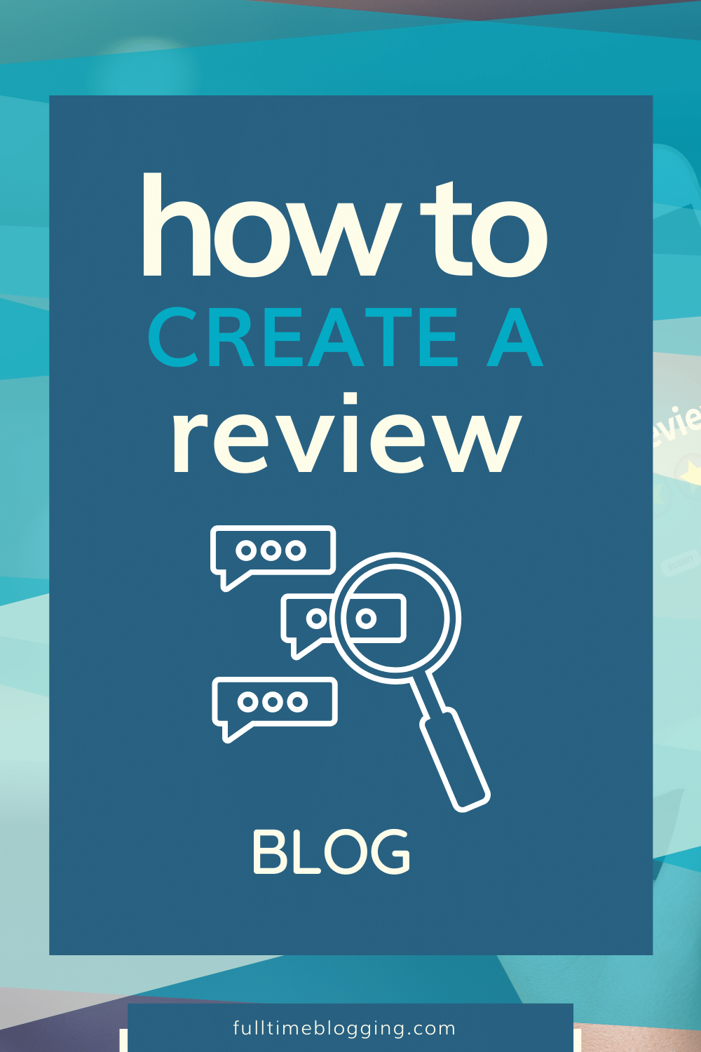 how to create a review blog