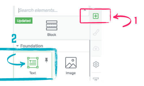 how to create a text box in Thrive Architect