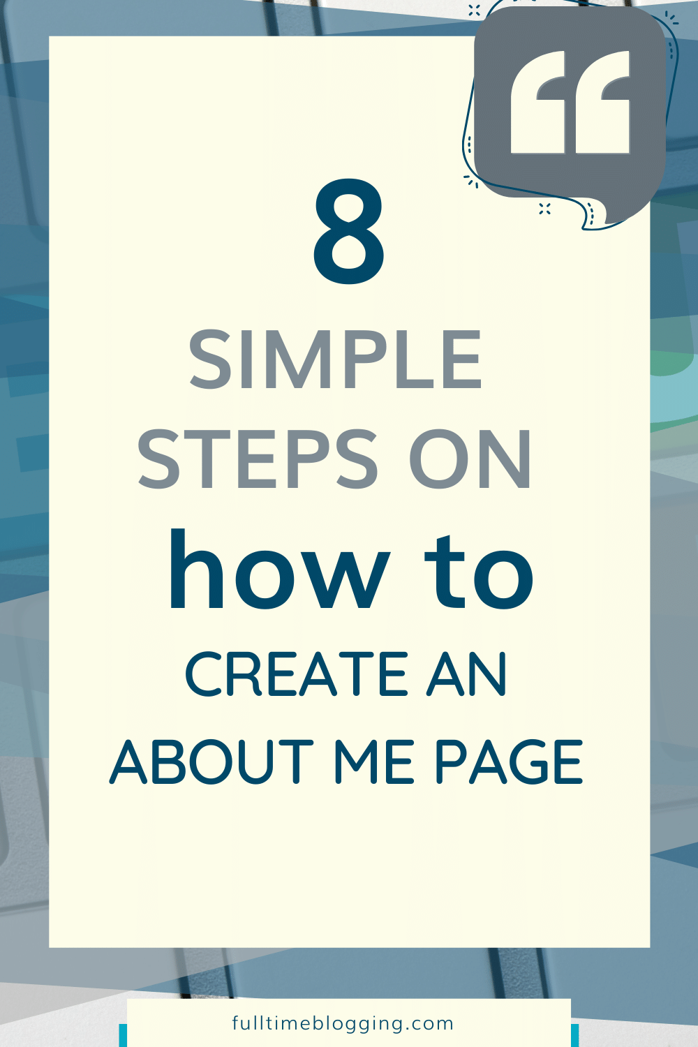 how to create an about me page