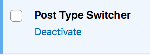 how to deactivate a plugin