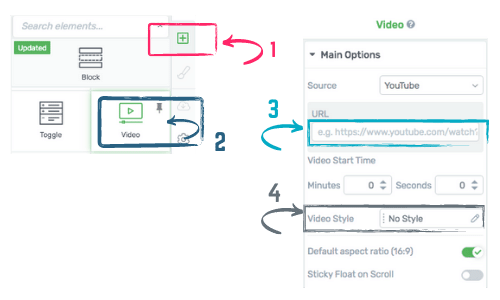 how to insert a video in Thrive Architect