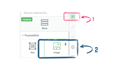 how to insert an image in a Thrive Architect blog post