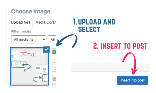 how to insert an image in a blog post