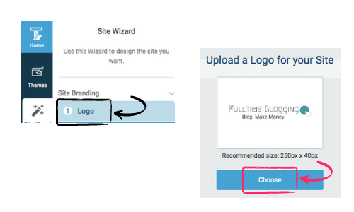 how to upload your website logo
