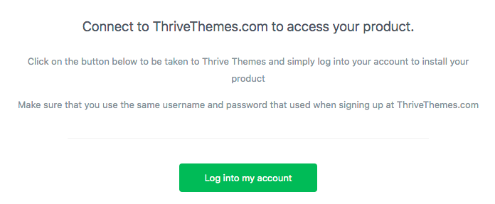 login to your thrive themes account