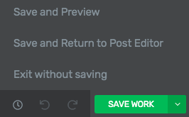 save and return to post editor