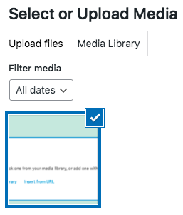 select an image from media library