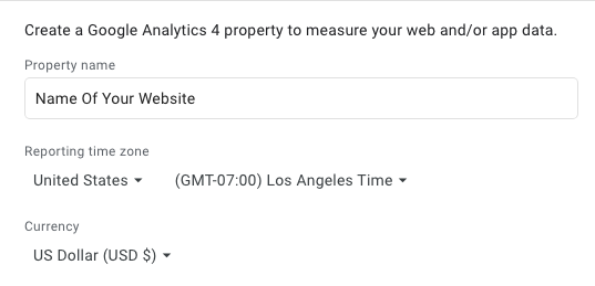 set up Google Analytics 4