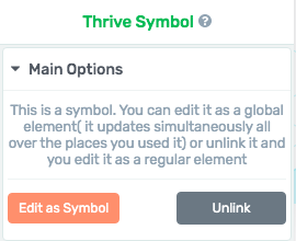 to link or not to link a Thrive Architect symbol