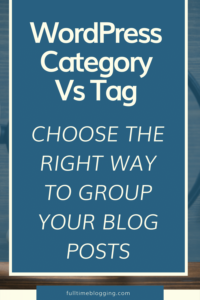 wordpress category vs tag