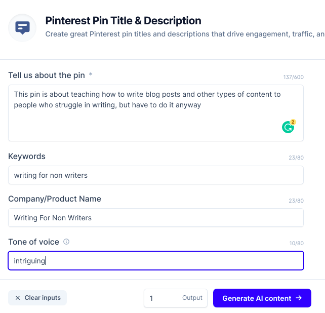 how to use the Pinterest pin template of Conversionai