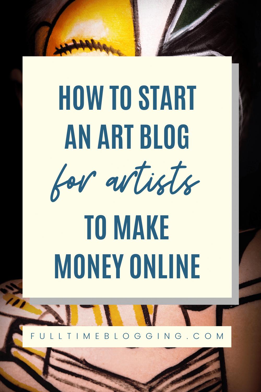 how to start an art blog